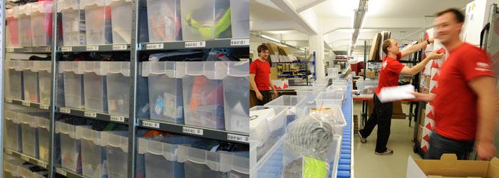 En nuestro almacén hay más de 75000 artículos y, en los días de más actividad, llegamos a procesar más de 1600 pedidos